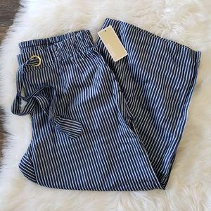 B2G1 NWT Michael Kors Blue Pinstripe Cropped Pants